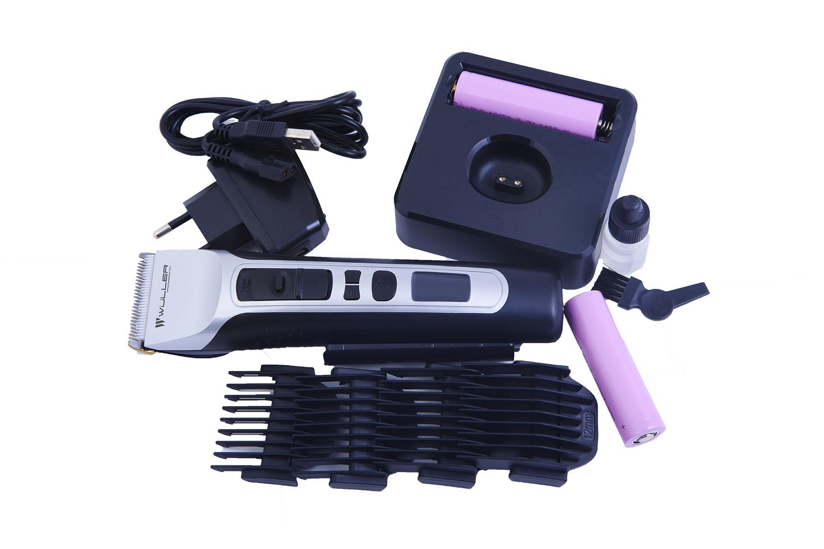 Профессиональная аккумуляторная машинка для стрижки волос  Wuller HARVEY WM.411